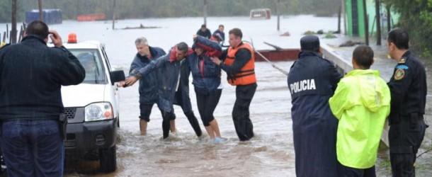 Inundaciones en el interior del país.