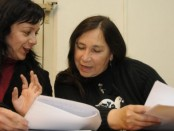 Patricia Borda, militante de Ades, junto a Irma Leites, líder de Plenaria Memoria y Justicia- Foto El observador