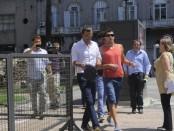 Andres Scotti y Alejandro Lembo llegan al juzgado. Foto: Maria Ines Hiriart