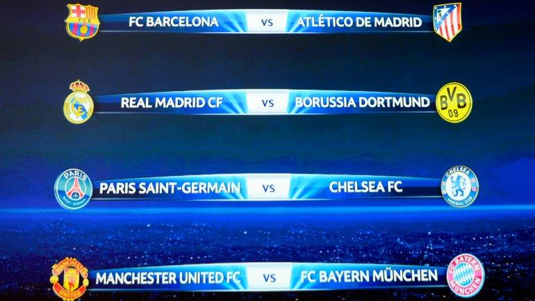Champions League: Barcelona – Atlético Madrid en cuartos de final ...