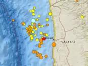 Los sismos de 4.0 grados o más en los últimos siete días en la zona de Iquique, según el USGS norteamericano
