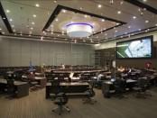 Fotografía de un salón en la nueva sede de la Unión de Naciones Suramericanas (Unasur) en Quito (Ecuador). EFE